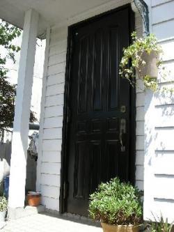 交換前のドア