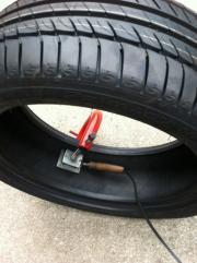 パンク修理には、安心の焼き付け修理。